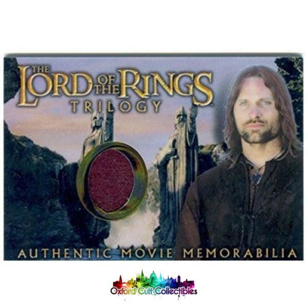 Lord Of The Rings Trilogy Aragorns House Healing Shirt Authentic Costume Card