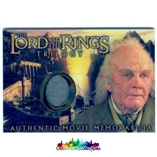 Lord Of The Rings Trilogy Bilbos Grey Havens Waistcoat Authentic Costume Card