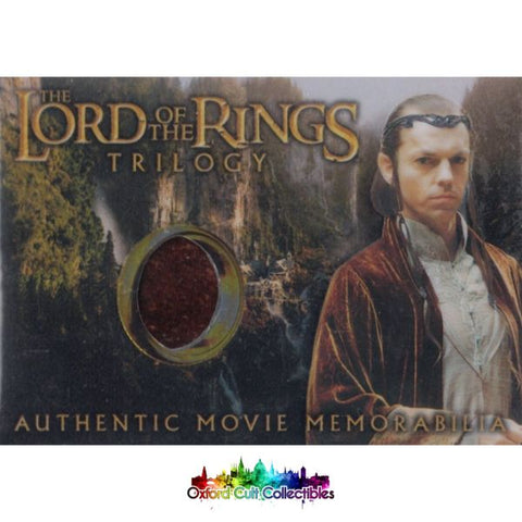 Lord Of The Rings Trilogy Elronds Rivendell Robe Authentic Costume Card