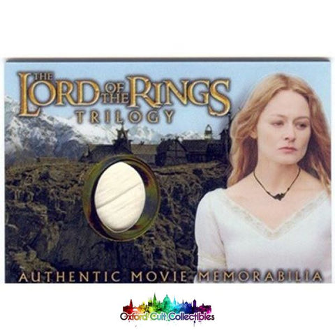 Lord Of The Rings Trilogy Eowyns Golden Hall Dress Authentic Costume Card