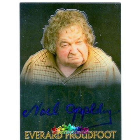 Lord Of The Rings Trilogy Everard Proudfoot Authentic Autograph Card