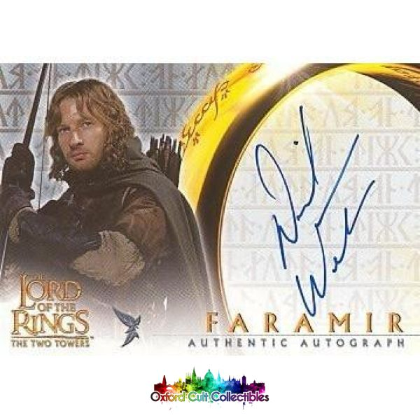 Lord Of The Rings The Two Towers Faramir Authentic Autograph Card