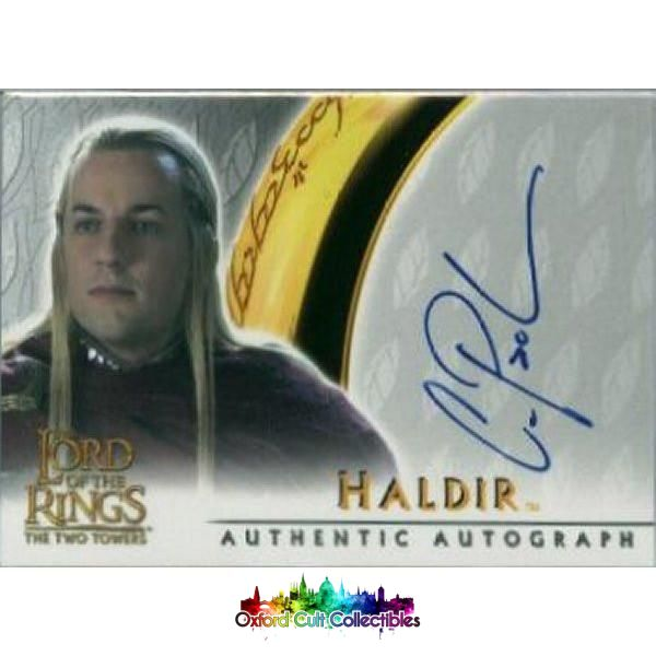 Lord Of The Rings The Two Towers Haldir Authentic Autograph Card