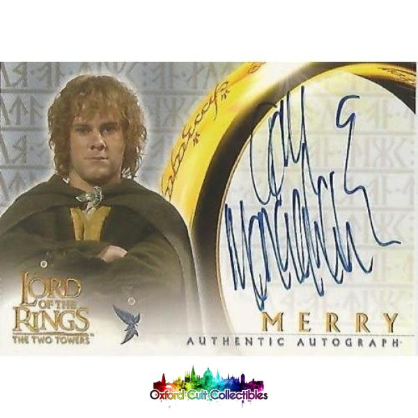 Lord Of The Rings The Two Towers Merry Authentic Autograph Card