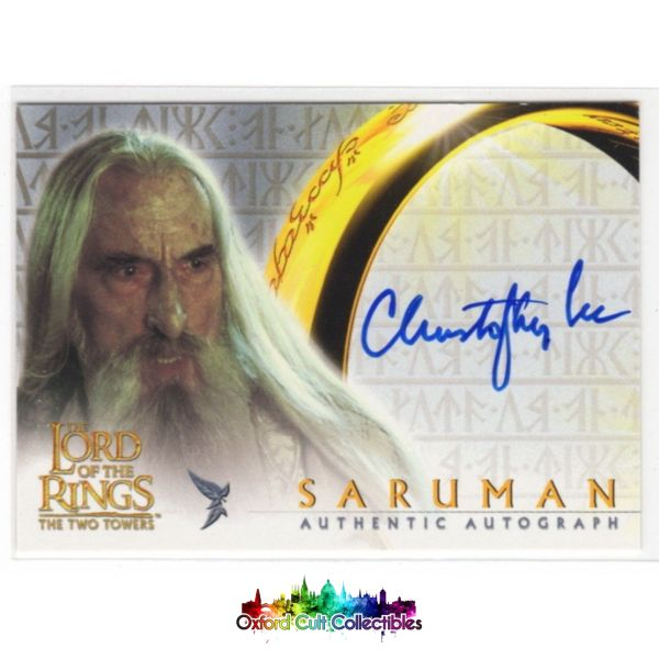 Lord Of The Rings The Two Towers Saruman Authentic Autograph Card