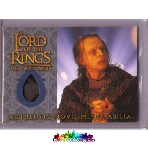 Lord Of The Rings The Two Towers Wormtongues Velvet Underfrock Authentic Costume Card