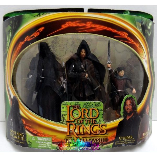 Lord Of The Rings Witch-King Strider And Frodo Action Figure Set