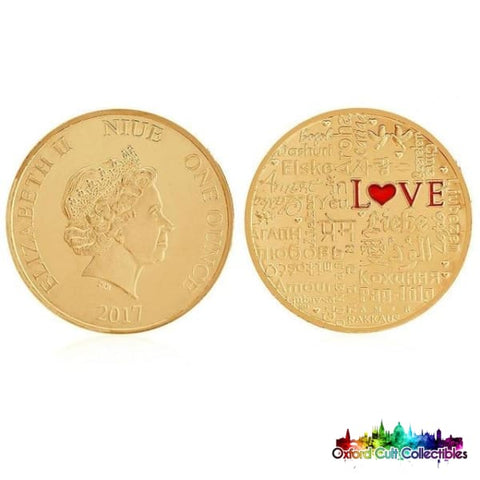 Love In Many Languages Collectible Coin