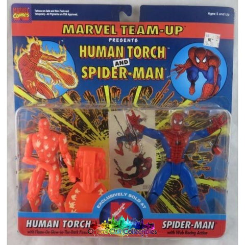 Marvel Team-Up Human Torch And Spider-Man Action Figure Set