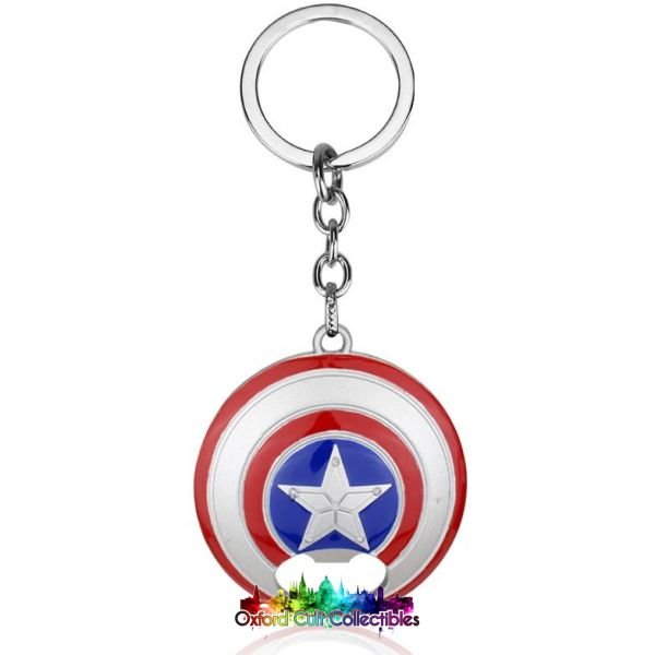 Marvels Captain Americas Shield Metal Keyring Bottle Opener
