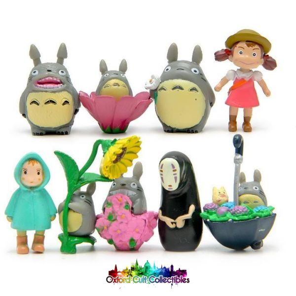 My Neighbour Totoro And Spirited Away Mini Figurine Set