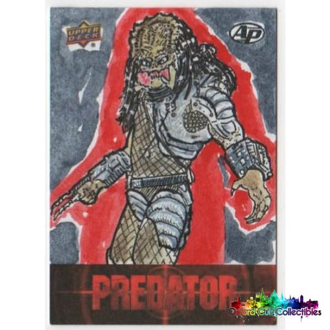 Predator Artist Proof Sketch Card By John Pleak
