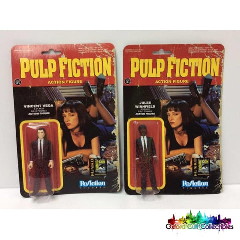 Pulp Fiction Blood Splattered Vincent Vega & Jules Winnifield Action Figure Set