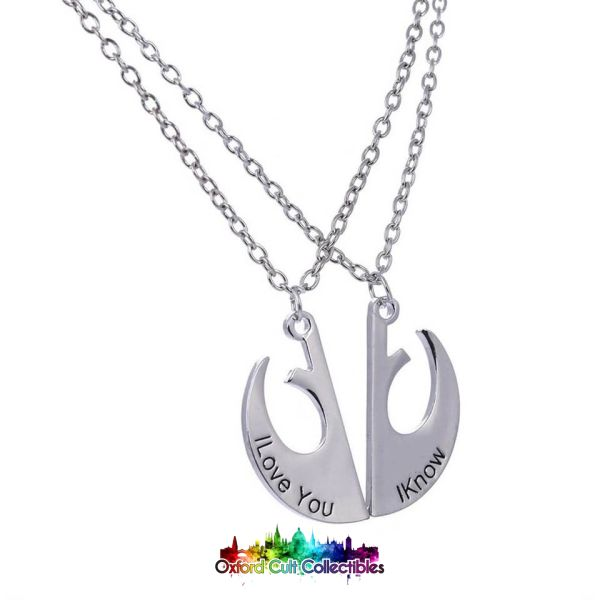 Rebel Alliance I Love You Know Lovers Necklace