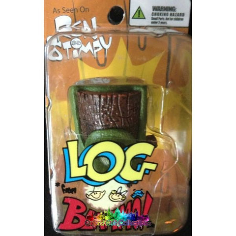 Ren And Stimpy Action Log From Blammo Miniature Figurine