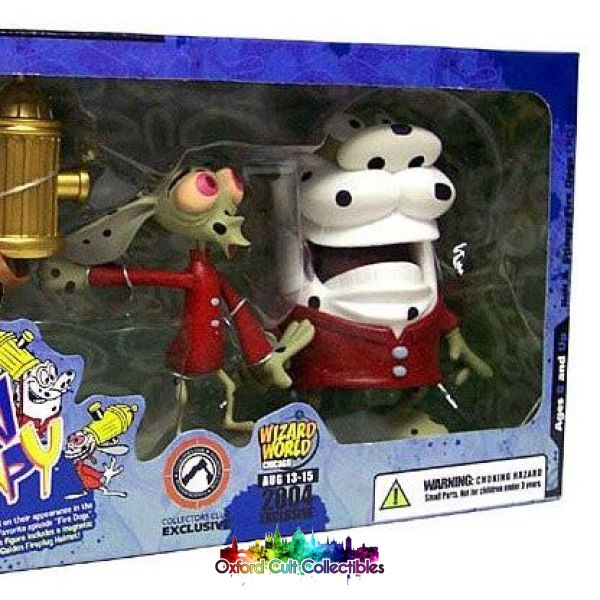 Ren And Stimpy As Fire Dogs Action Figure Set