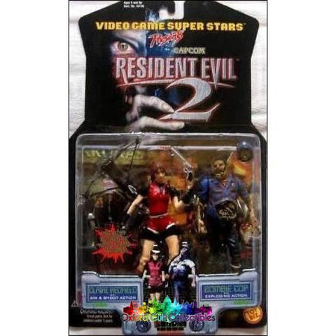 Resident Evil 2 Claire Redfield And Zombie Cop Action Figures