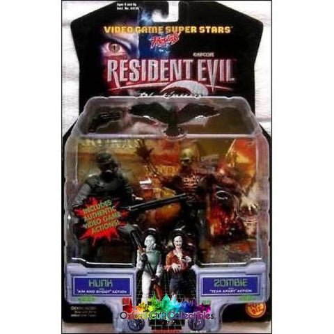 Resident Evil 2 Hunk And Zombie Action Figures