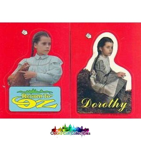 Return To Oz Trading Card/sticker Set