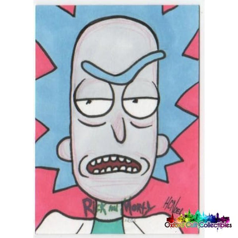 Rick And Morty Artist Proof Sketch Card