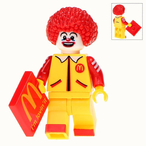 Building Blocks 'McDonalds - Ronald McDonald' minifigure