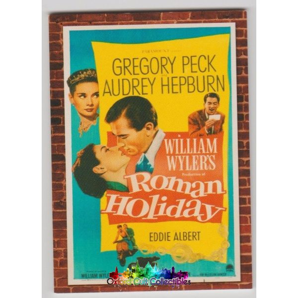 Roman Holiday Gregory Pec And Audrey Hepburn Movie Poster Dual Costume Card