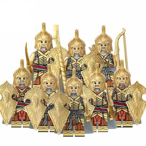 Building Blocks Lord of the Rings 'Elven Archers and Warriors' set of minifigures