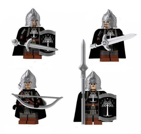 Building Blocks Lord of the Rings 'Gondorian Soldiers' set of 4 minifigures
