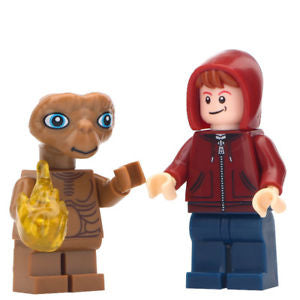 Building Blocks 'ET the Extraterrestrial and Elliot' minifigures