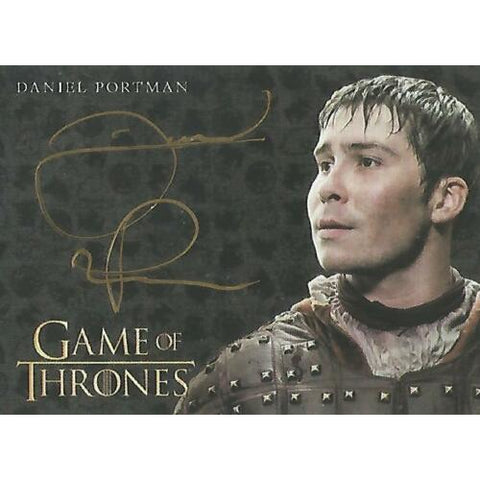 Game of Thrones 'Daniel Portman as Podrick Payne' Gold Autograph Card