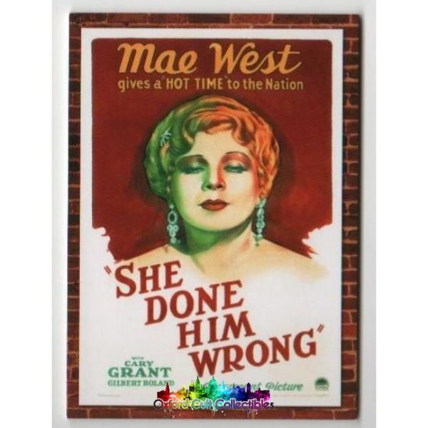 She Done Him Wrong Mae West And Cary Grant Movie Poster Dual Costume Card