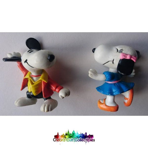 Snoopy Saturday Night Fever And Dancing Belle Figurines