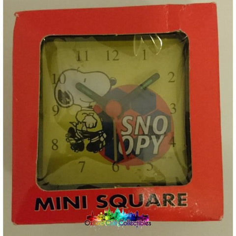 Snoopy/peanuts Soccer Mini Square Alarm Clock
