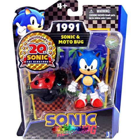 Sonic The Hedgehog And Moto Bug Action Figure Set