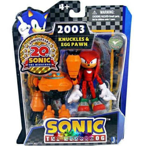 Sonic The Hedgehog Knuckles And Egg Pawn Action Figure Set