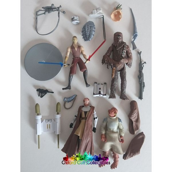 Star Wars Collection Of 4 Loose Action Figures And Accessories/weapons