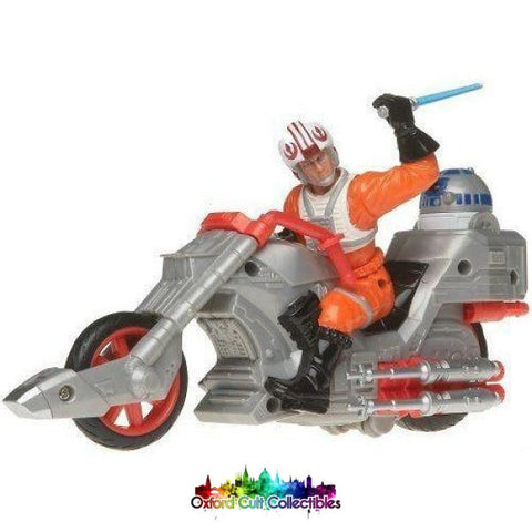 Star Wars Customs Luke Skywalker On Rebel Chopper