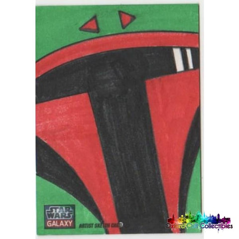 Star Wars Galaxy Artist Sketch Card