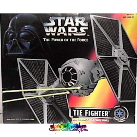 Star Wars Tie Fighter With Ejecting Solar Panel Wings (The Power Of The Force)