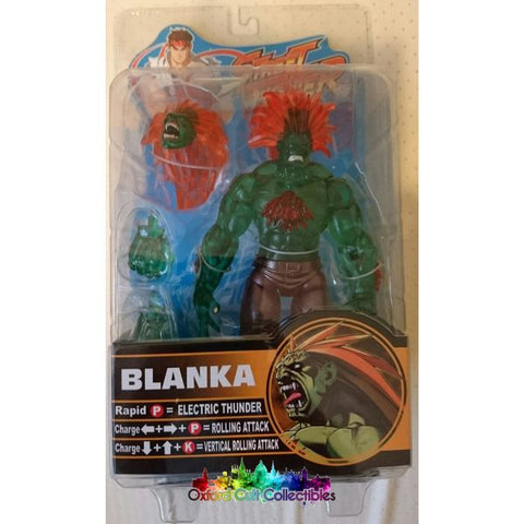 Street Fighter Round 2 Blanka Action Figure (Translucent Variant)