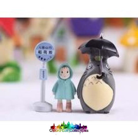 Studio Ghibli My Neighbor Totoro Bus Stop Figurine Set