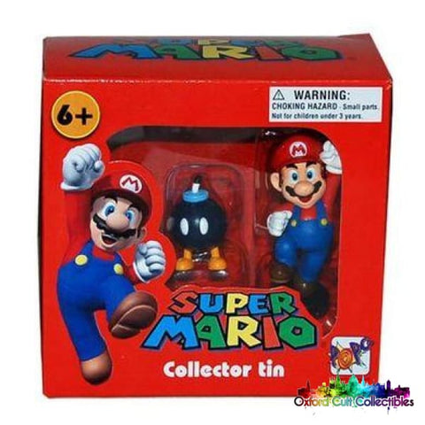 Super Mario Collectors Tin Set Of 3