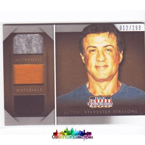 Sylvester Stallone Triple Costume Card