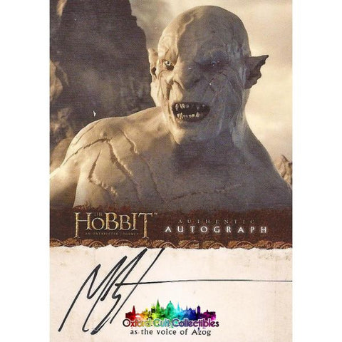 The Hobbit An Unexpected Journey Azog Authentic Autograph Card