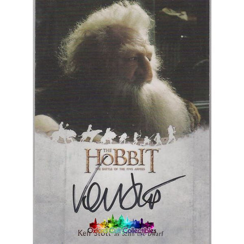 The Hobbit An Unexpected Journey Balin The Dwarf Authentic Autograph Card