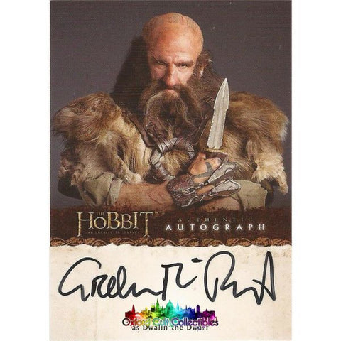 The Hobbit An Unexpected Journey Dwalin The Dwarf Authentic Autograph Card