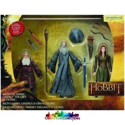 The Hobbit Balin The Dwarf Gandalf Grey And Tauriel Action Figure Set (An Unexpected Journey)