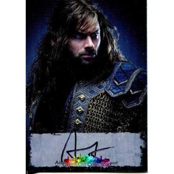 The Hobbit Battle Of The Five Armies Kili Dwarf Authentic Poster Autograph Card