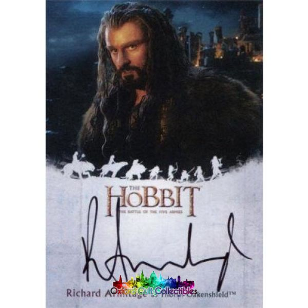The Hobbit Battle Of The Five Armies Thorin Oakenshield Authentic Autograph Card