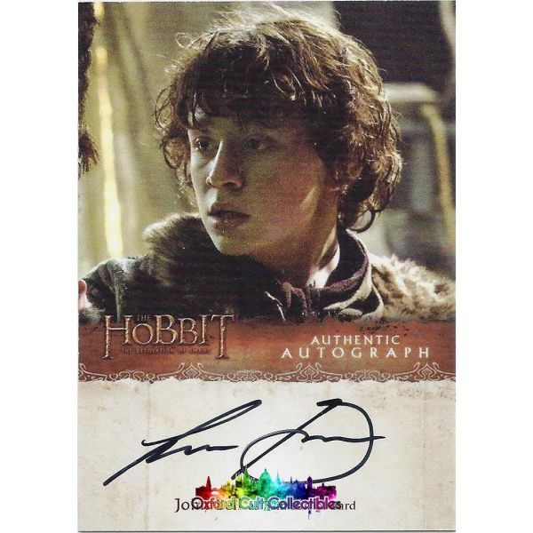 The Hobbit Desolation Of Smaug Bain Son Bard Authentic Autograph Card